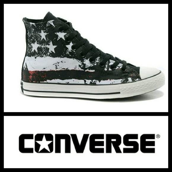 4ed08d845dd1 Converse Shoes - CONVERSE Chuck Taylor Hi Graffiti US Flag 9